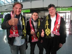 BVB-Fans vor dem Abflug
