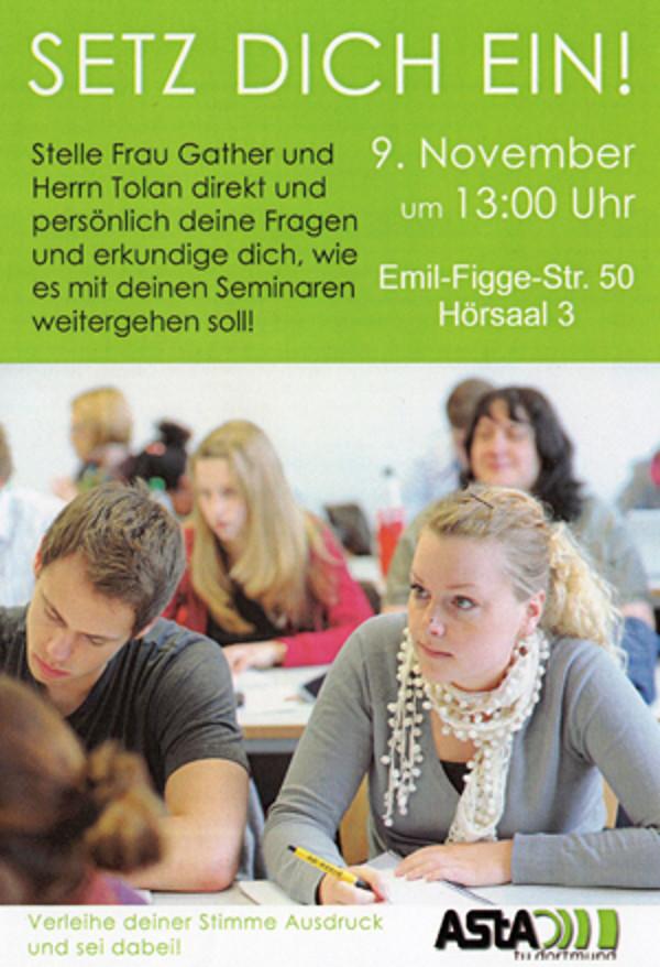 Flyer des AStA zur Veranstaltung