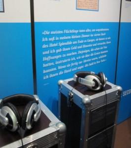 Zur Ausstellung gehören auch Hörproben. Foto: Birte Möller