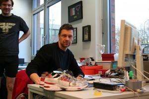 Marco Hagen im Essener Arbeitsraum. Fotos: Martin Schmitz