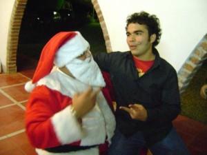 Der Mexikaner Orlando macht Weihnachtsscherze. Foto: Privat