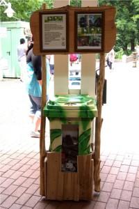 Am Eingang des Dortmunder Zoos steht die Sammelbox für alte Handys. Foto: Zoo Dortmund