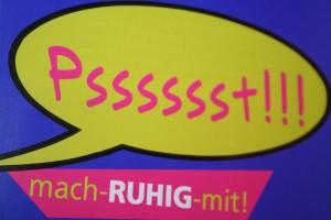 """Das Logo für den Lärmschutz: """"Mach RUHIG mit!"""" heißt das Forum, bei dem Bürger online eintragen können, wo's ihnen zu laut ist Foto: Timo Baudzus"""