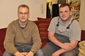 Schon ewig Kumpels, kommen gebürtig aus Wuppertal und sind heute die Inhaber der XXL-WG: Lars Roth (l.) und Marc Bruch (r.). Foto: Maren Bednarczyk