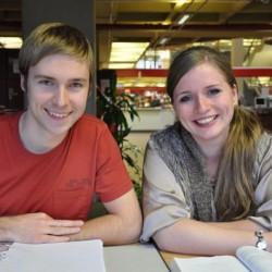 Yuriy und Isabella studieren Energiesystemtechnik in Bochum. Foto: Annika Koenig.