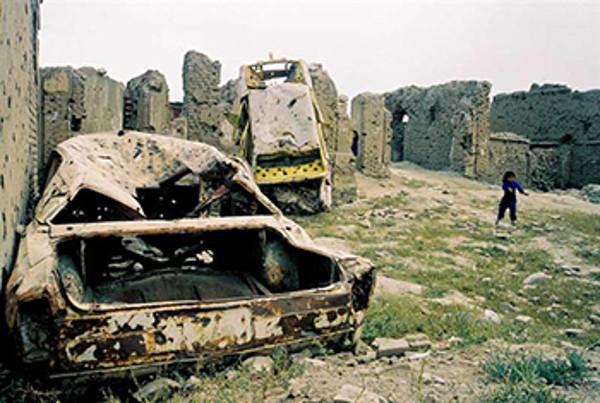Kriegsschäden in Afghanistan. Foto von: Yan Boechat
