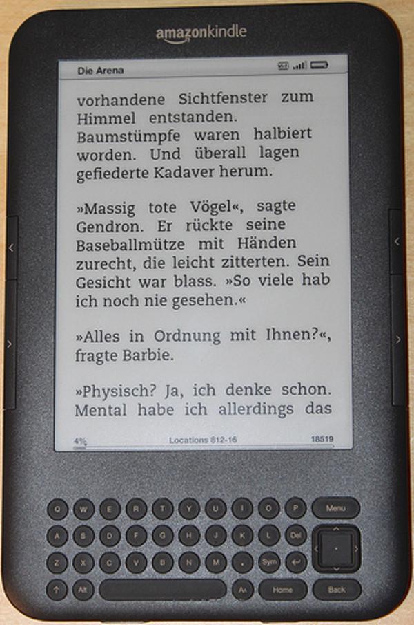 Beim Social Reading könnte man auf dieser Seite zum Beispiel Sätze markieren und sofort kommentieren. Foto:flickr.com/gillyberlin.