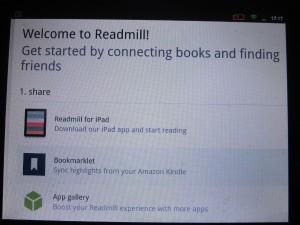 Bei der Plattform Readmill liest man in der Gemeinschaft. Ein großer Nachteil: Es funktioiniert nur auf dem iPad. Foto: Thomas Borgböhmer.