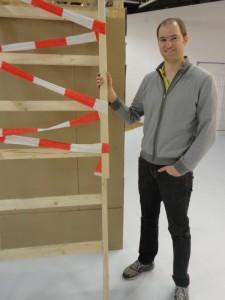 """Sebastian Schellers Baustelle: """"Dein Lebens-Lauf"""" in der DASA. Bild: Alexander Greven."""