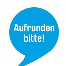 """An diesem Logo sind teilnehmende Handelsunternehmen zu erkennen. Foto: """"Deutschland rundet auf"""""""