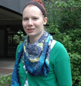 """Studentin Isabelle (24) hat sich spontan entschieden, bei dem Projekt mitzumachen. Ihr Beitrag: Das Wort """"Ich-Findung""""."""