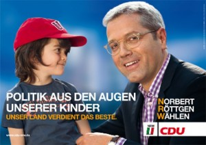 Das von vielen Seiten kritisierte Röttgen-Wahlplakat der CDU.