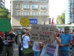 Demonstration gegen die GEMA-Reform im Juli 2012 in Essen. (Foto: Dirk Fischer)