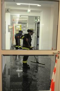Schon wieder ist Wasser im Dortmunder Uni-Gebäude. Foto: Florian Hückelheim