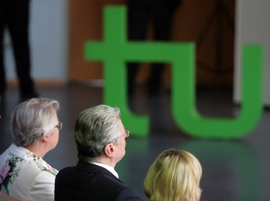 Die Themen Freiheit und Verantwortung waren Joachim Gauck auch bei seinem Besuch an der TU wichtig. Foto: Daniel Moßbrucker