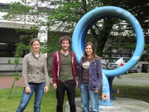 Die drei TU-Teilnehmer des ChemCar-Wettbewerbs.