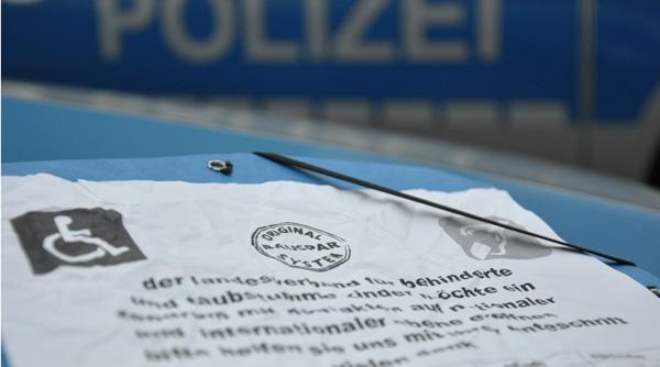 """Warnung vor der Masche: Bundesweit gibt es mehrere Betrugsfälle um Spenden für den """"Landesverband für behinderte und taubstumme Kinder"""". Foto: Polizei Lüneborg/OTS"""