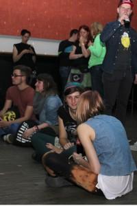 Die Stimmung vor dem Konzert war chillig und entspannt. Foto: Louise Seidenstücker