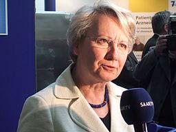 Ist ihre Doktorarbeit wirklich ein Plagiat? Bundesbildungsministerin Annette Schavan.