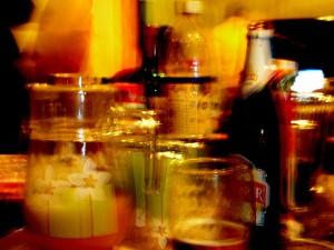Mit zunehmender Alkoholdosis ist selbst der Nachschub schwierig zu erkennen.