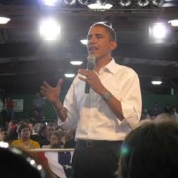 Obama bei einer Wahlkampfveranstaltung. Rechte: BeckyF / flickr.com