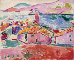 """Henri Matisse """"Dächer von Collioure""""  (© Foto: Staatliche Eremitage), Teaserbild: Max Pechstein """"Sitzendes Mädchen/Sitzender weiblicher Akt"""" (© Foto: Staatliche Museen zu Berlin, Nationalgalerie, Roman März)"""