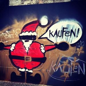 Wissenswert Weihnachtskonsum Graffiti