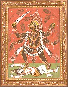 Im Hinduismus ist Kali die Göttin des Todes und der Erneuerung. Foto: Nataraja/GNU