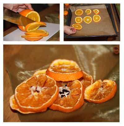Orangenscheiben selbst trocknen bringt weihnachtlichen Duft in die Wohnung.