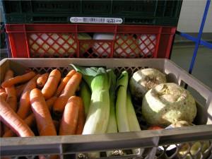 Die Lebensmittel, die die Tafel ausgibt, sehen einwandfrei aus.