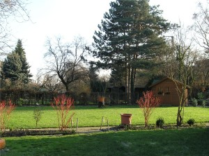 Den Garten der Tafel können die Mitarbeiter zum Beispiel für Grillfeste nutzen.