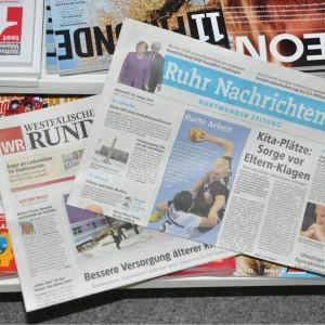 Auch in Dortmund gibt es die WR weiterhin zu kaufen. Der Haupteil kommt wie bisher von der WAZ, den Lokalteil übernehmen die Ruhrnachrichten. Foto: Johannes Hoffmann