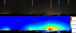 Nachtluftbild Innenstadt