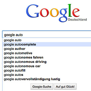 Autovervollst&auml;ndigung: Google verliert