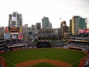 Die Deutschen lieben Fußball; die Amerikaner Baseball. In diesem Stadion spielen die San Diego Padres. Foto: Tüch
