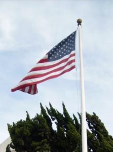 Sie ist überall gehisst in Amerika. Solcher Patriotismus ist Deutschen fremd. Foto: Tüch