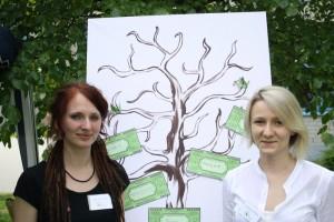 Nadine Richter und Anastasia Haidak, die beiden Gründerinnen der Studierenden für Nachhaltigkeit.