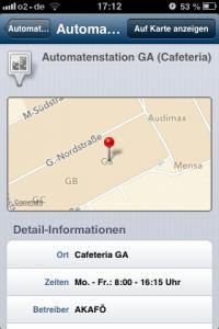 Die App der RUB ist wegweisend. Screenshot: Annabell Brockhues