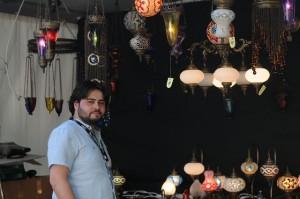 Auf dem Ramadan-Festival konnte man auch orientalische Hängelampen kaufen.