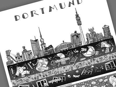 Ein Stadtplakat von Dortmund Foto: Wolfgang Philippi