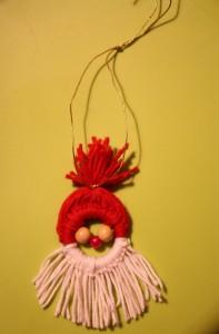 So sieht der fertige Nikolausanhänger aus. (Fotos: Lena Höhm)