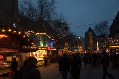 Der Dortmunder Weihnachtsmarkt. Foto: Lea von der Mosel