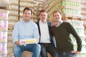 Max Wittrock (links) mit seinen mymüsli-Kollegen Foto: Florian Weichselbaumer