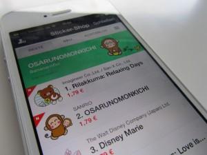 Bei der japanischen App Line überwiegt der Spaßfaktor. Foto: Naima Fischer