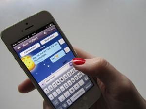 Zwar ist Viber eine App zum Telefonieren. Das Chatten funktioniert hier aber dennoch ganz gut. Foto: Naima Fischer