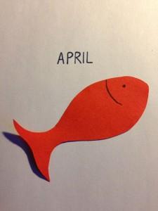 Tradition: In Frankreich gehört der Papier-Fisch zum Aprilscherz. (Foto und Teaserbild: Lucas Gries)