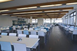 Die Mensa erstrahlt in neuem Glanz.  Bild: Petra Mikolajetz/Studentenwerk Dortmund