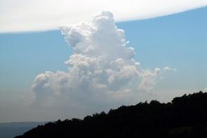Foto einer Cumuluswolke