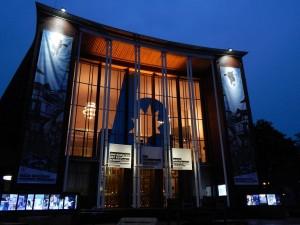 Schauspielhaus Bochum Außenansicht Nacht beleuchtet