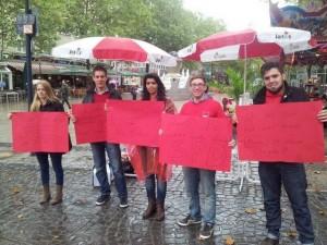 Für sozialen Wohnungsbau – gegen Privatisierungen: Die Jusos